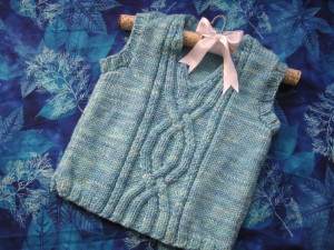 Twisty River Vest by Gina House (Ivy Brambles Yarn)
